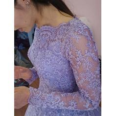 Hasta el suelo Tul con Corte de baile Vestidos de baile de promoción (018217939)
