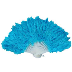 Wedding Fans Wedding Fans Women's Casual/Special Occasion Plastic/Feather Wedding Umbrellas