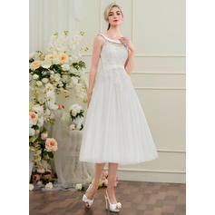 robes de mariée de style trompette rose