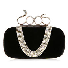 Clutches Ceremony & Party Velvet Clip Closure Charming Clutches & Evening Bags