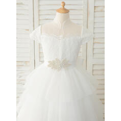 white baby flower girl dresses