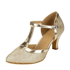 Women's Ballroom Sparkling Glitter With T-Strap Dance Shoes
