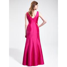 Col V Longueur ras du sol Taffeta Sublime Robes demoiselle d'honneur (007198035)