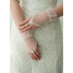 Tyll Ladies 'Hansker Håndleddet Lengde Brude Hansker Fingerløse Hansker