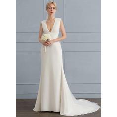 robes de mariée en soie avec des poches