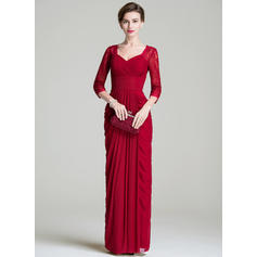 Sheath/Column Sweetheart Floor-Length Mother of the Bride Dresses With Ruffle