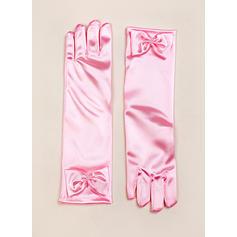 Elastic Satin Children's Gloves Flower Girl Gloves Fingertips S:28cm/M:32cm/L:34cm Gloves