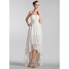 Princesa Sin mangas Sin tirantes con Gasa Vestidos de novia (002210462)