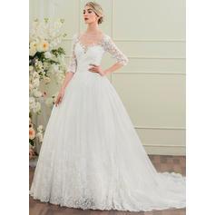 Corte de baile con Princesa General Grande Vestidos de novia (002095835)
