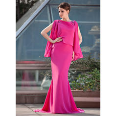 Trumpet/Mermaid Scoop Neck Chiffon Glamorous Mother of the Bride Dresses (008211467)