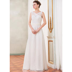 Delicate Sleeveless Sweetheart With Tulle Lace Wedding Dresses (002210525)