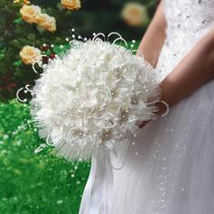 """Bouquets de mariée Rond Mariage Satiné/PE 11.02""""(Approximative 28cm) Fleurs de mariage"""