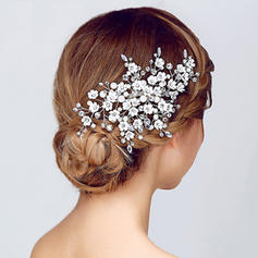 "Combs & Barrettes Wedding/Special Occasion/Party Rhinestone/Alloy/Imitation Pearls 6.10""(Approx.15.5cm) 3.94""(Approx.10cm) Headpieces"