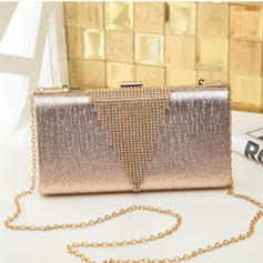 "Clutches/Satchel Wedding/Ceremony & Party PU Shining 8.67""(Approx.22cm) Clutches & Evening Bags"