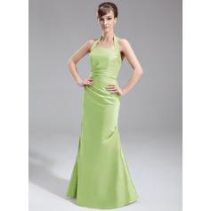 vestido de dama de honor corto de gasa