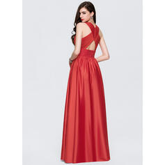 red long train prom dresses