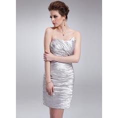 Sheath/Column Sweetheart Short/Mini Cocktail Dresses With Ruffle Beading (016008718)