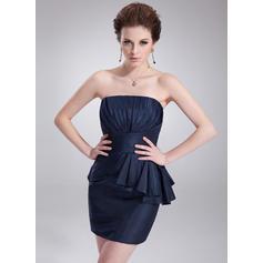 Fashion Sheath/Column General Plus Taffeta Cocktail Dresses (016021274)