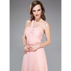 Gasa Tirantes comunes Un hombro Corte A/Princesa Vestidos de baile de promoción (018047254)