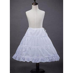 Bustle Tea-length Satin A-Line Slip/Flower Girl Slip 1 Tiers Petticoats