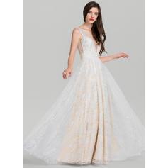 Tul Sin mangas con Corte A/Princesa Magnífico Vestidos de baile de promoción (018138540)