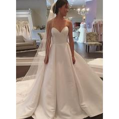 Sweetheart Court Train - Ball-Gown Satin Wedding Dresses