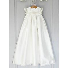 Satén Escote redondo Encaje Vestidos de bautizo para bebés con Manga corta (2001216802)