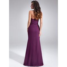 Gasa Novio Vestido tubo Sin mangas Chic Vestidos de noche (017020638)
