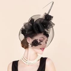 Cambric med Rhinestone Fascinators Vakkert Damene ' Hatter