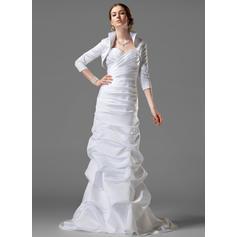 Jacka Älsklingsringning Court släp Bröllopsklänningar med Rufsar (002001182)