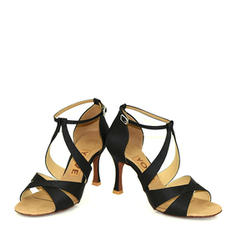 De mujer Danza latina Satén Zapatos de danza