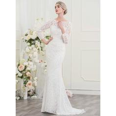 vestidos de novia baratos de manga larga