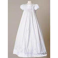 Satén Escote redondo Lazo(s) Vestidos de bautizo para bebés con Manga corta (2001217388)