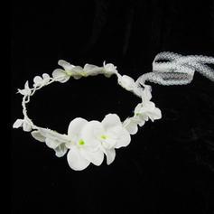 "Flower Girl's Headwear Wedding Imitation Pearls/Artificial Silk 15.75""(Approx.40cm) 1.97""(Approx.5cm) Headpieces"