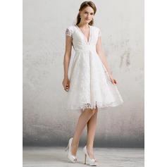 robes de mariée courtes à manches longues