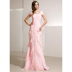 Flattering Chiffon A-Line/Princess Zipper Up Evening Dresses (017014216)