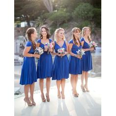 Sweetheart General Plus A-Line/Princess Jersey Sleeveless Bridesmaid Dresses (007145007)