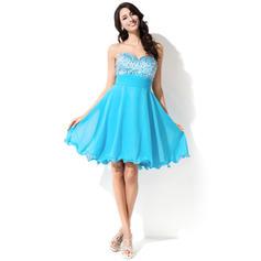 Amada Sem magas Tecido de seda Princesa Vestidos de boas vindas (022214034)