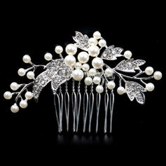 """Combs & Barrettes Wedding/Special Occasion Rhinestone/Alloy/Imitation Pearls 3.54""""(Approx.9cm) 2.36""""(Approx.6cm) Headpieces"""