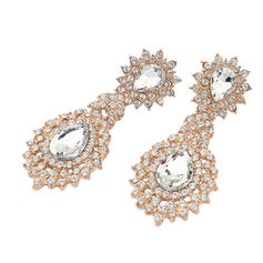 Earrings Alloy/Rhinestones Pierced Ladies' Attractive Wedding & Party Jewelry
