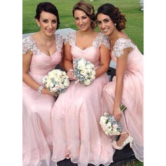Appliques Sweetheart With Luxurious Chiffon Bridesmaid Dresses (007211579)