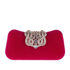 Fashion Handbags Ceremony & Party Velvet Snap Closure Elegant Clutches & Evening Bags