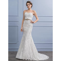 satin wedding dresses a line