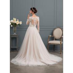 vestidos de noiva da princesa com mangas