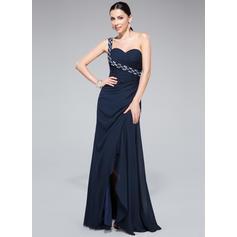 Floor-Length Regular Straps Chiffon Sheath/Column Prom Dresses (018046254)