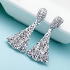 Earrings Alloy/Zircon Pierced Ladies' Romantic Wedding & Party Jewelry