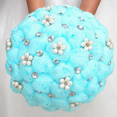 "Bridal Bouquets/Bridesmaid Bouquets Round Wedding/Party Satin 8.27""(Approx.21cm) Wedding Flowers"