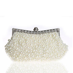Clutches/Wristlets/Totes/Bridal Purse/Fashion Handbags/Makeup Bags/Luxury Clutches Wedding/Ceremony & Party/Casual & Shopping/Office & Career Pearl Snap Closure Elegant Clutches & Evening Bags