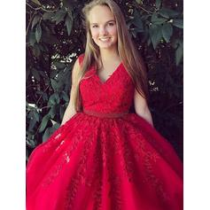Tulle V-neck A-Line/Princess Beautiful Prom Dresses (018210328)