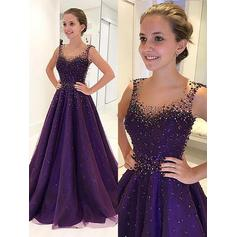 Scoop Neck A-Line/Princess - Tulle 2019 New Prom Dresses